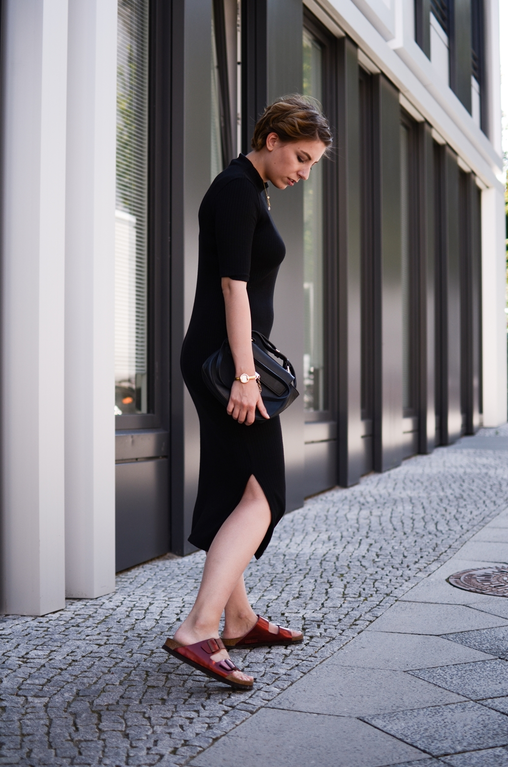 schwarzes Massimo Dutti Kleid in Berlin | Fashion, Style, Outfit, Trend | Glasschuh.com Lea Christin